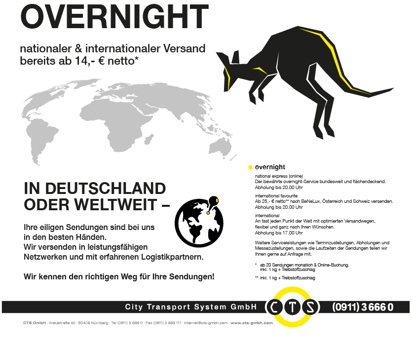 nationaler und internationaler Overnight Versand